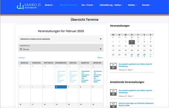 Wordpress Kalender Frontend (1)